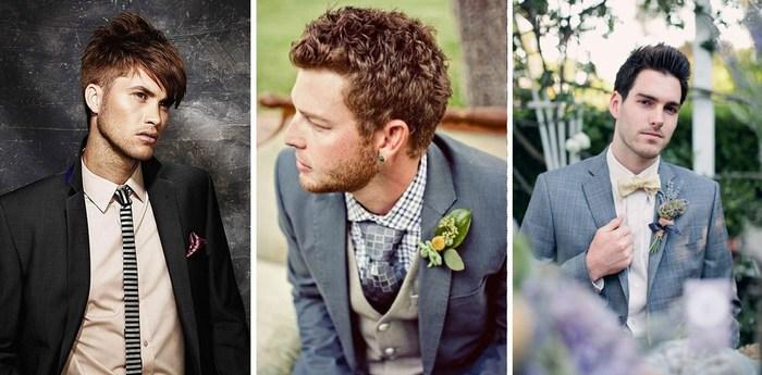 Прически для свадьбы мужские