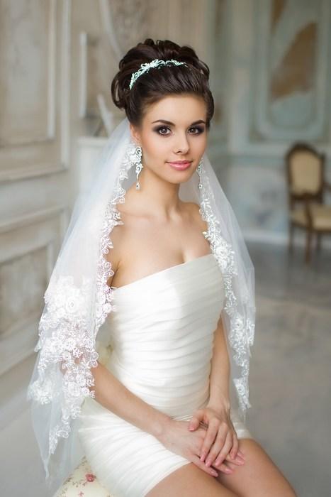 Картинки свадебные прически и платья