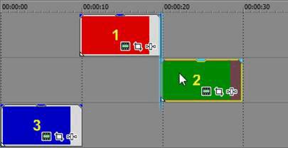 Индикатор отображен через высоту ленты новостей в Сони Вегас 12