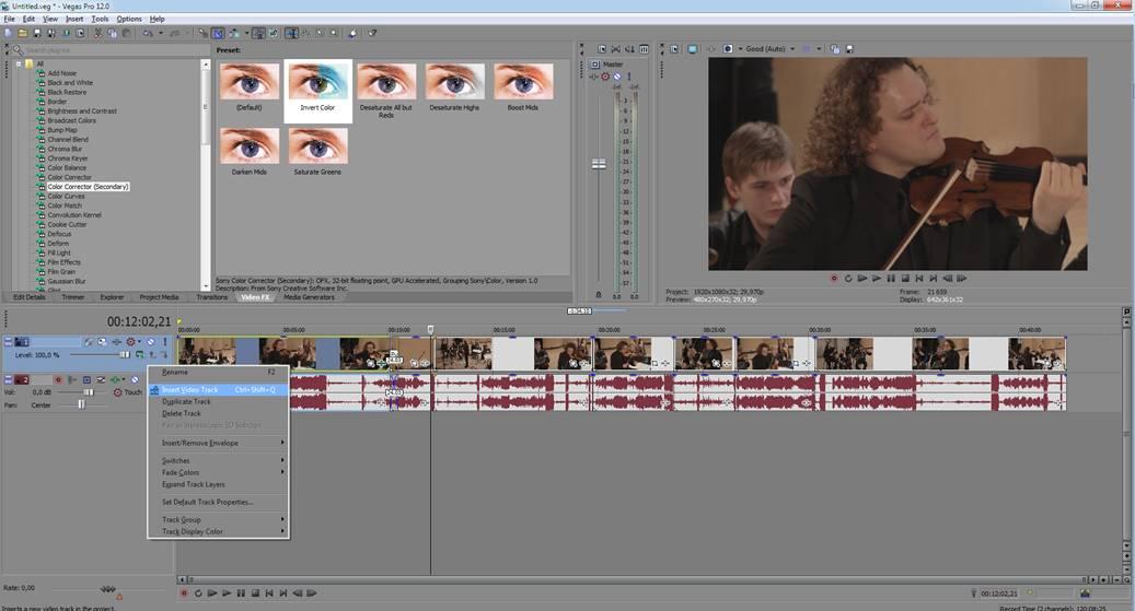 Программу для монтажа видео sony vegas pro 11